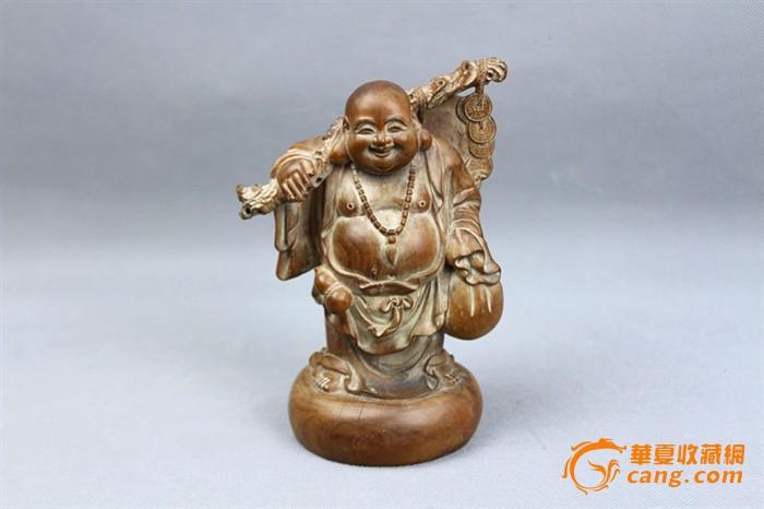 黄杨木雕布袋罗汉像