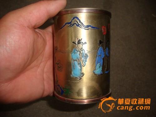 景泰蓝白铜茶叶盒图1-在线竞价-图片|图库|价格