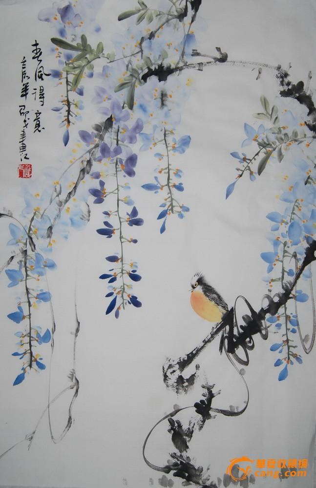 写意国画花鸟作品
