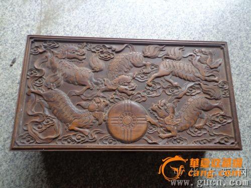 木雕麒麟纹首饰盒