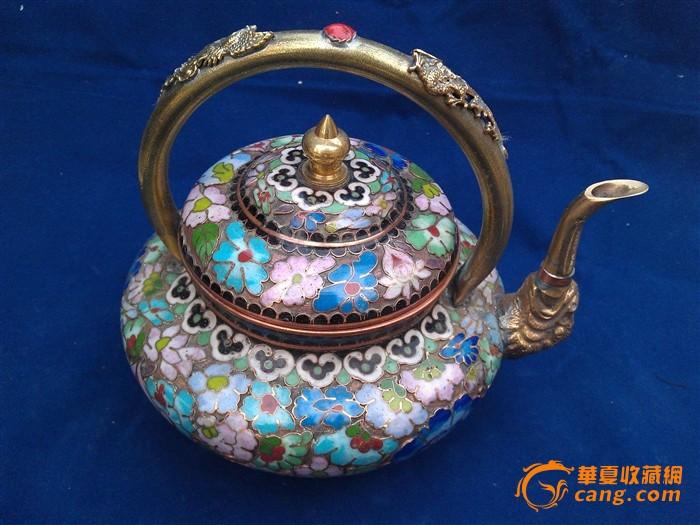 铜景泰蓝龙凤酒壶图1-在线竞价-图片|图库|价格