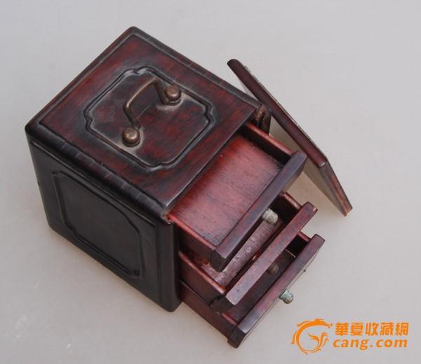 民国老红木首饰盒_在线拍卖网