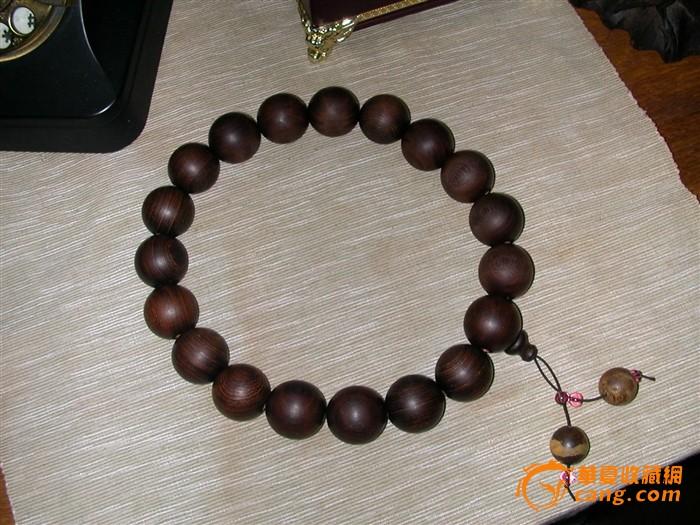 大佛珠2.5cm同料老料红木之鸡翅木顺纹心材18+1持珠