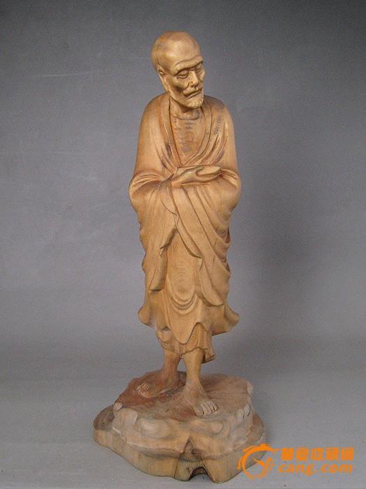 黄杨木雕瘦骨罗汉图1-在线竞价-图片|图库|价格
