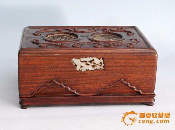 清代嵌玉老木盒图1-在线竞价-图片|图库|价格