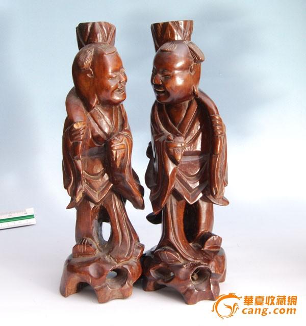 清和合二仙木雕图1-在线竞价-图片|图库|价格