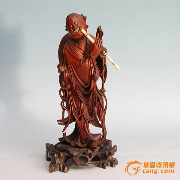 清韩萧子吹箫木雕图1-在线竞价-图片|图库|价格