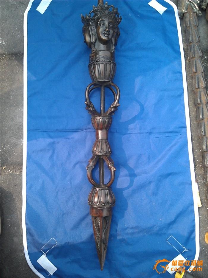 老铜三面马头金刚杵图1-在线竞价-图片|图库|价格