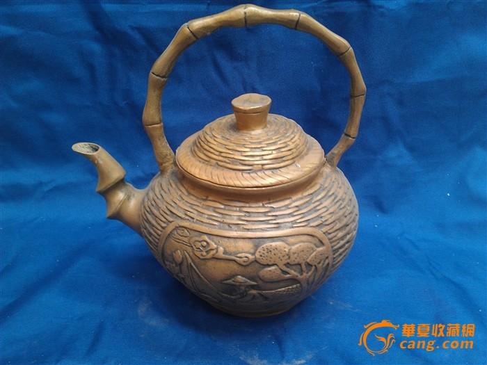 太公钓鱼竹篓铜壶图1-在线竞价-图片|图库|价格