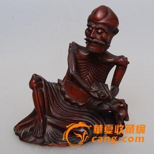 清代黄杨木雕瘦骨罗汉图1-在线竞价-图片|图库|价格
