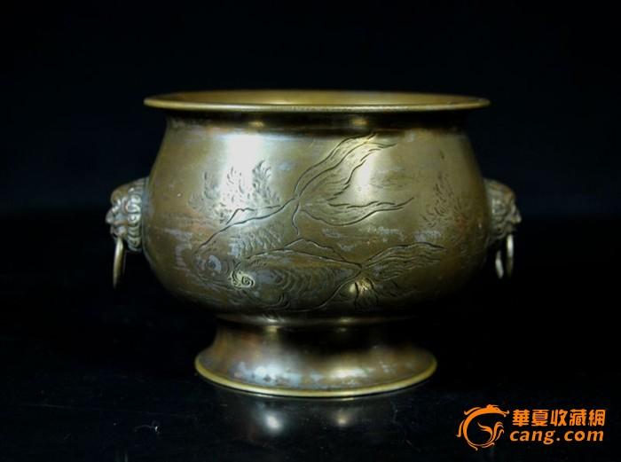 民国铜刻仕女图铺耳香炉图1-在线竞价-图片|图库|价格
