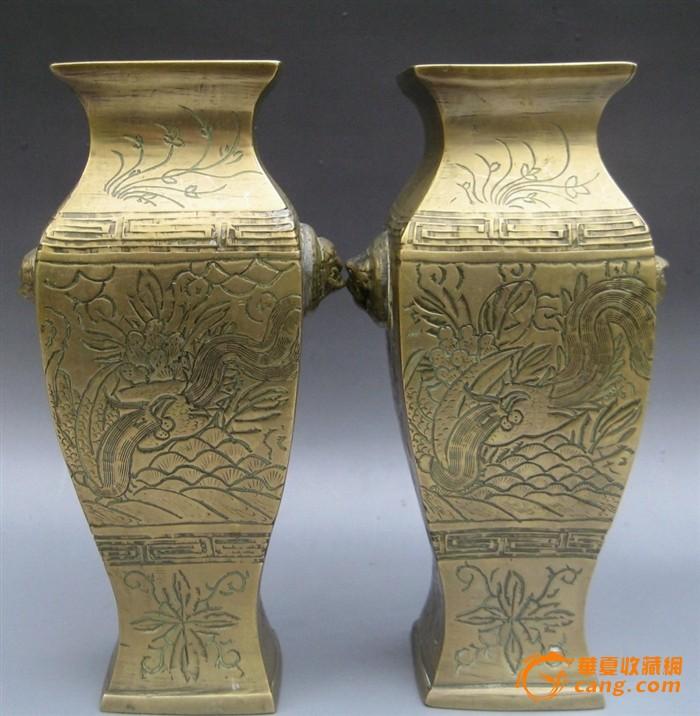民国铜方瓶1对图6-在线竞价-图片|图库|价格