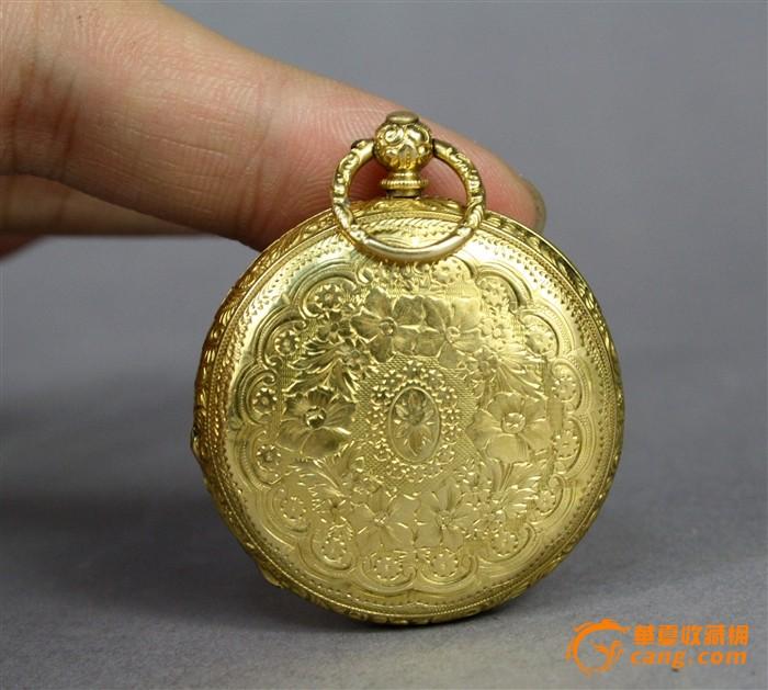 20世纪初罕见精品重器内外全18K实黄金满雕怀表图1-在线竞价-图片|图库|价格