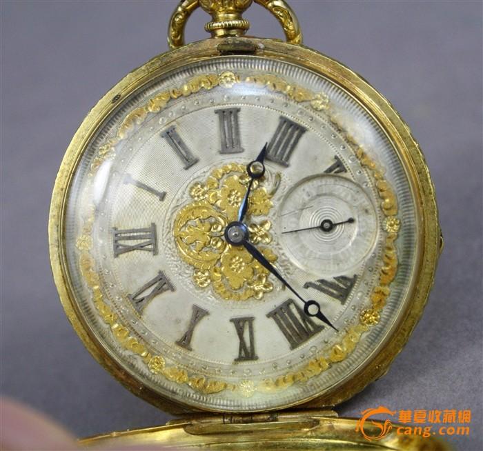 20世纪初罕见精品重器内外全18K实黄金满雕怀表图9-在线竞价-图片|图库|价格