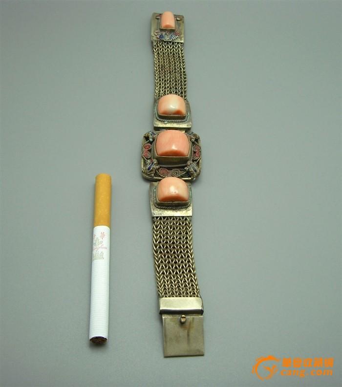 藏银景泰蓝珊瑚手串图1-在线竞价-图片|图库|价格