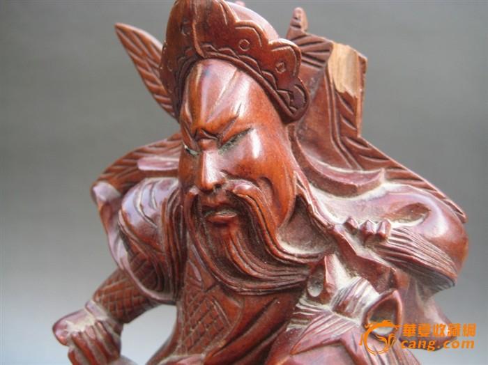 民国关公木雕