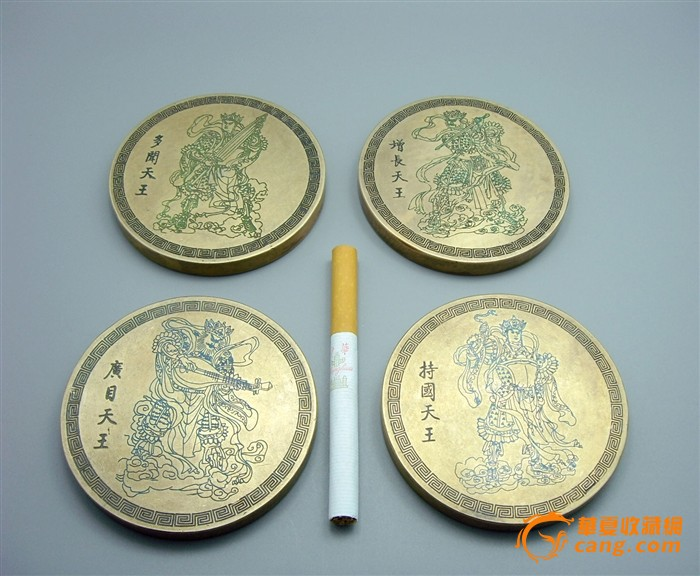 黄铜精雕四大天王镇尺一套图1-在线竞价-图片|图库|价格