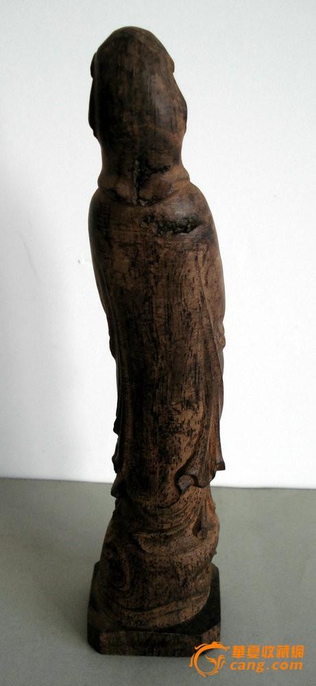 越南沉香木雕如意观音