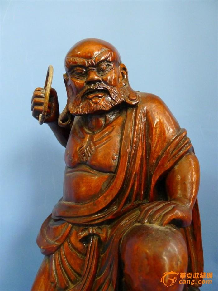 木雕大罗汉像1_在线拍卖