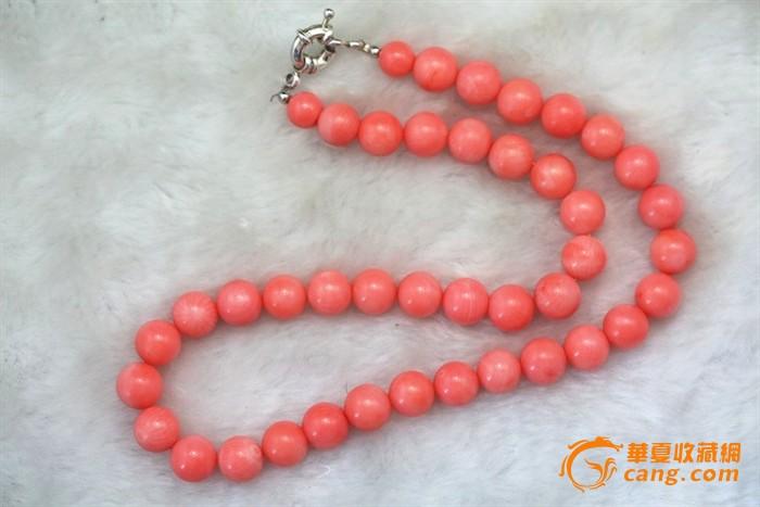 回流momo珊瑚大圆珠项链