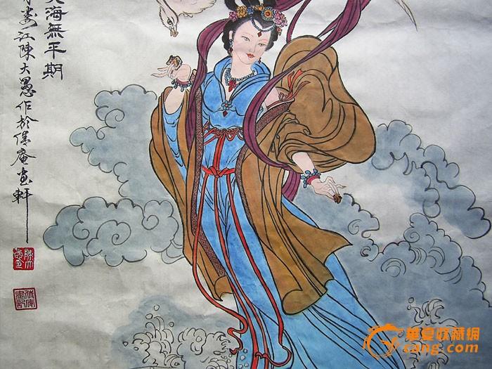 名家水墨人物画-精卫填海图!