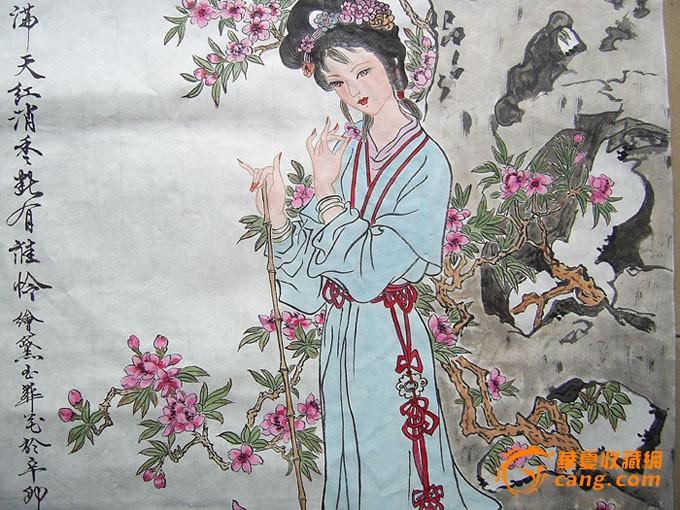 名家水墨人物画-黛玉葬花图!