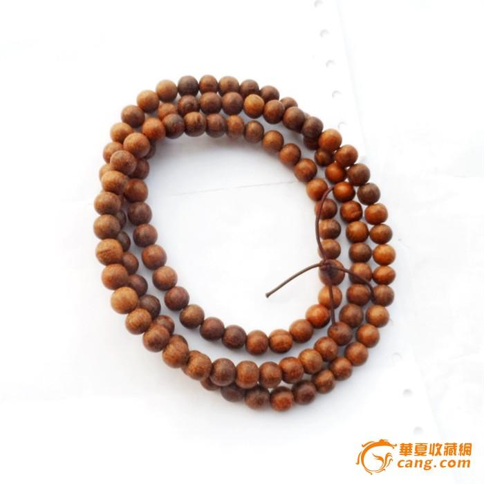 熟坑越南红土沉香木佛串