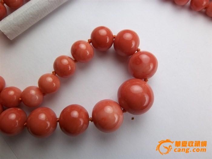 7克15mm超大红珊瑚圆珠项链