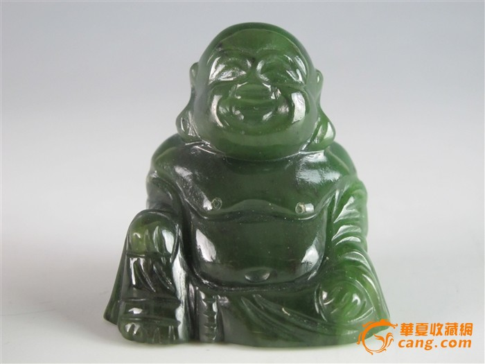 民国墨玉弥勒佛雕像
