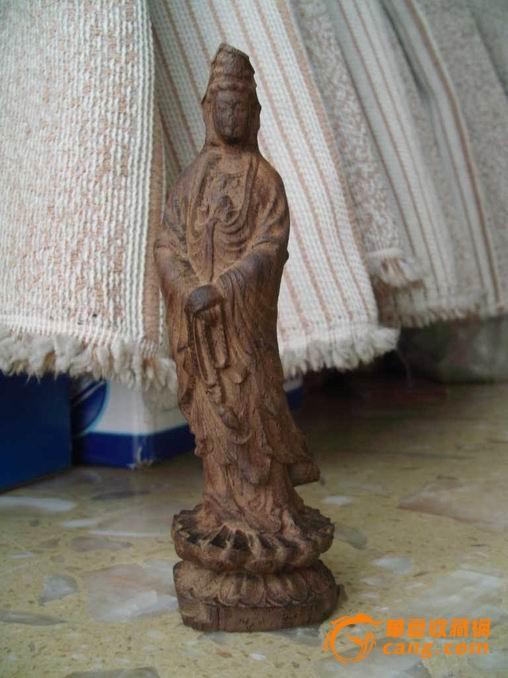沉香木观音雕塑_在线拍卖