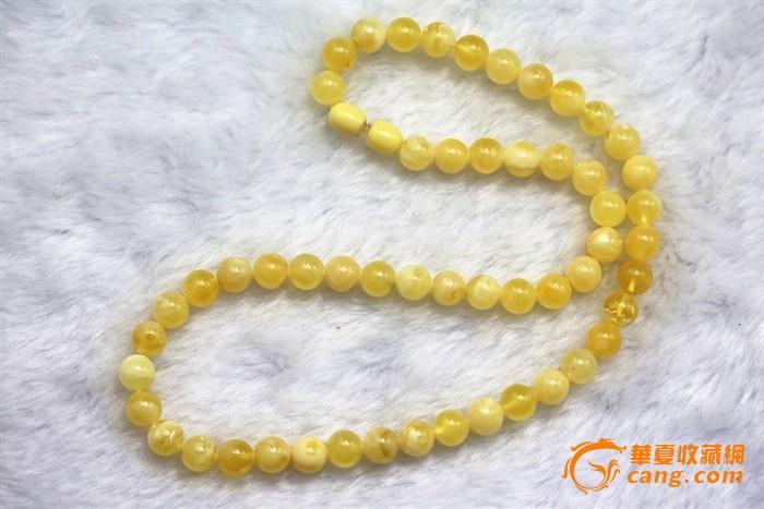 回流天然蜜蜡圆珠项链2