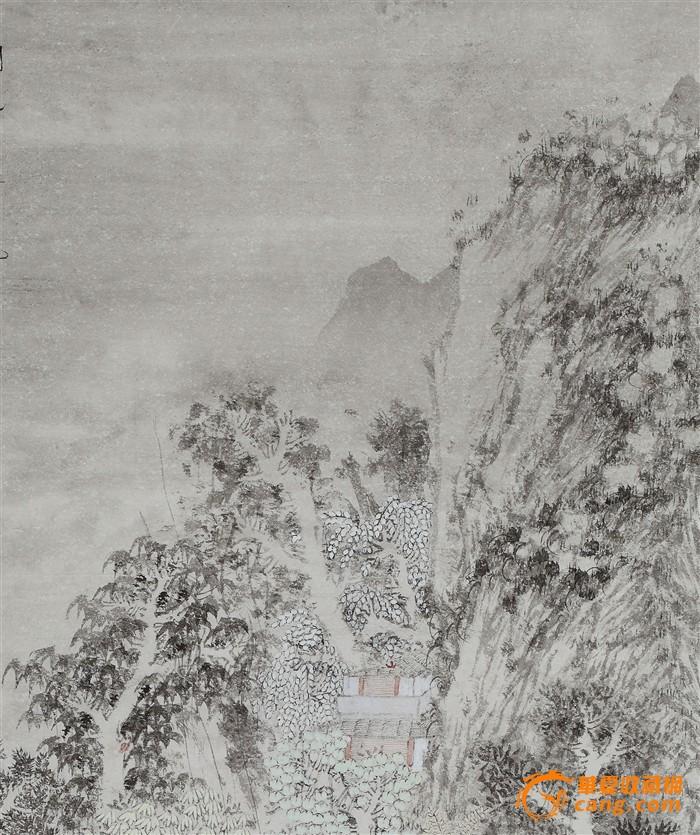 中国 获奖/【藏.参展获奖】中国美协会员四尺整纸张山水《茂林清泉图》http:...