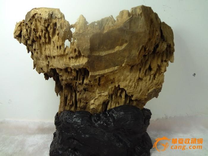 木雕浮雕山水摆件
