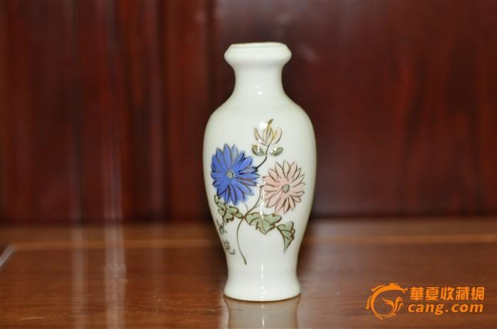 薄胎手绘小花瓶1套
