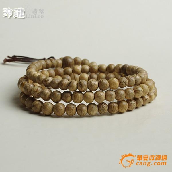 越南惠安蜜香活结沉香木108佛珠(6mm)-al30