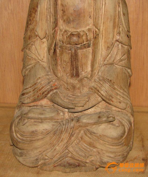 檀香木木雕观音_在线拍卖