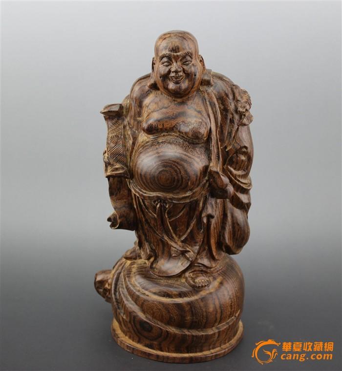 木雕工艺品 花奇楠 弥勒弗 摆件 安康摆件