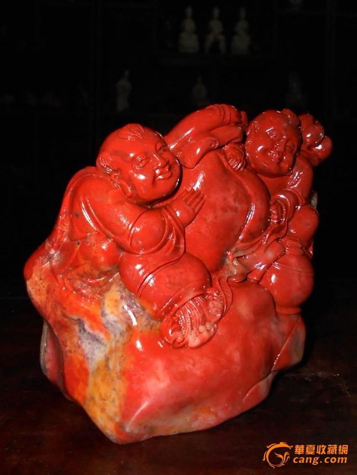 藏品尺寸/规格:14.5cmx7.5cmx12cm(赠送高档锦盒) 寿山石雕,因选材于福州市北寿山石质地脂润,色彩斑斓,性坚而韧,非常适宜雕刻,历来为雕刻家所钟爱。福州的寿山石雕至今已有1500多年历史。 [君子约定]请各位藏友拍前认真阅读藏品信息,按心理价竞拍,谢绝拍而不买、拍后议价.
