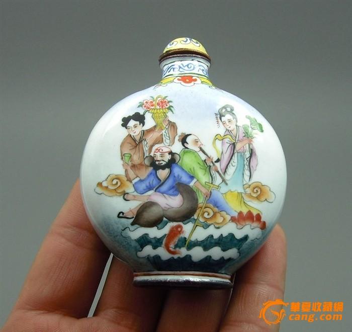 景泰蓝手绘八仙过海鼻烟壶