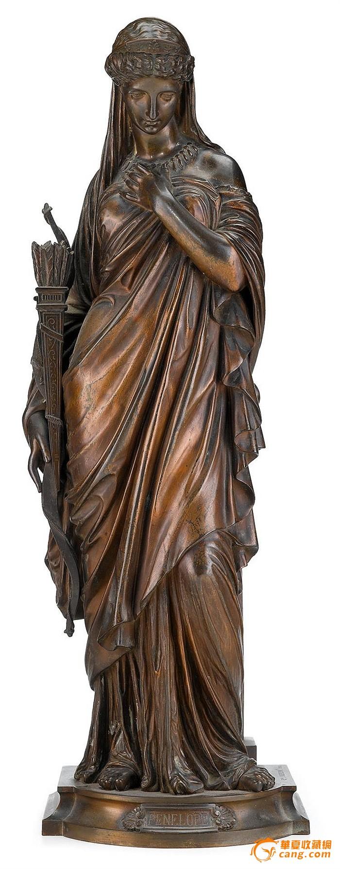 19世纪法国雕塑大师eugene aizelin铜雕作品