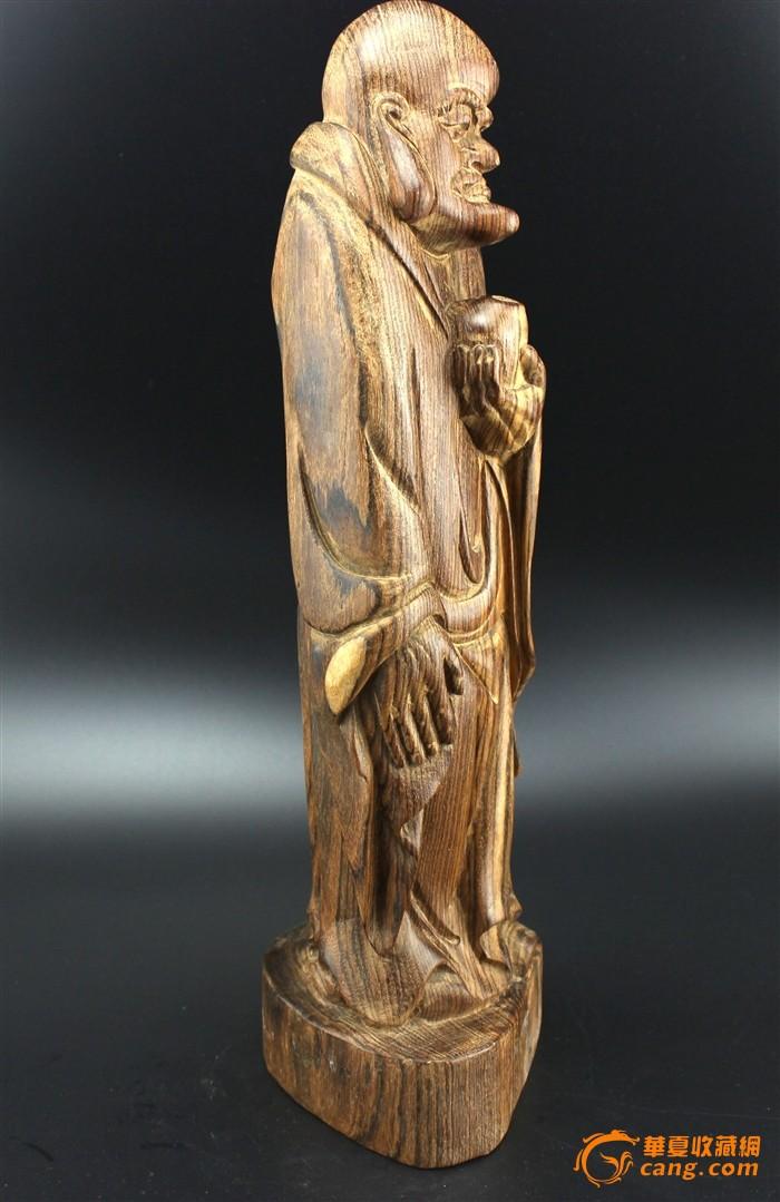 精工沉香木木雕 举钵罗汉