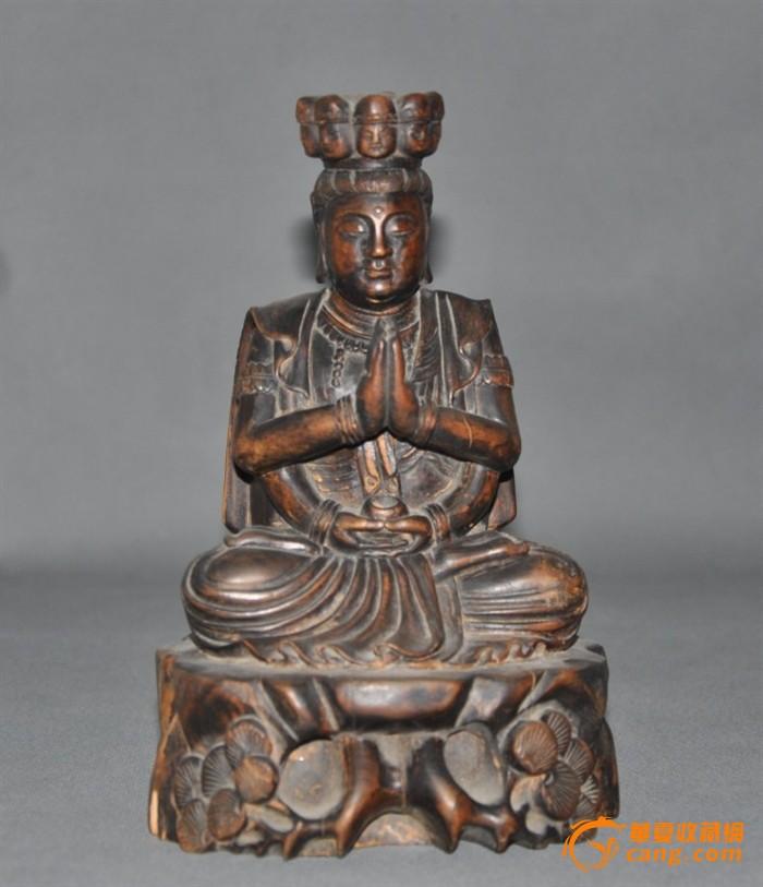 民国黄杨木雕刻佛像图1-在线竞价-图片|图库|价格