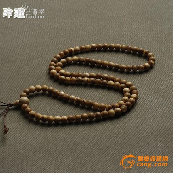 越南惠安蜜香活结沉香木108佛珠(8mm)-al45