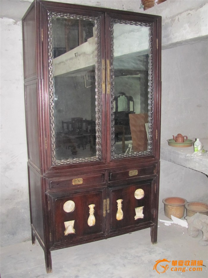 红木大书柜一个