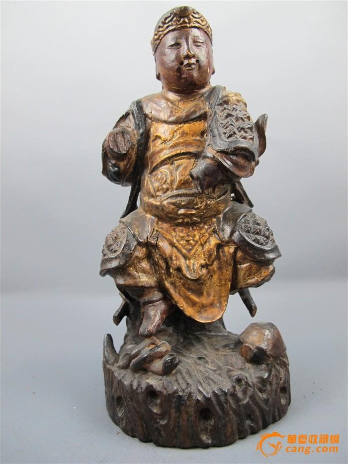 明 玄武大帝木雕像