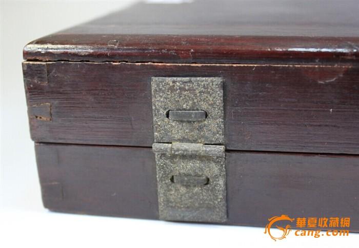 清代至民国老木铜头箱盒