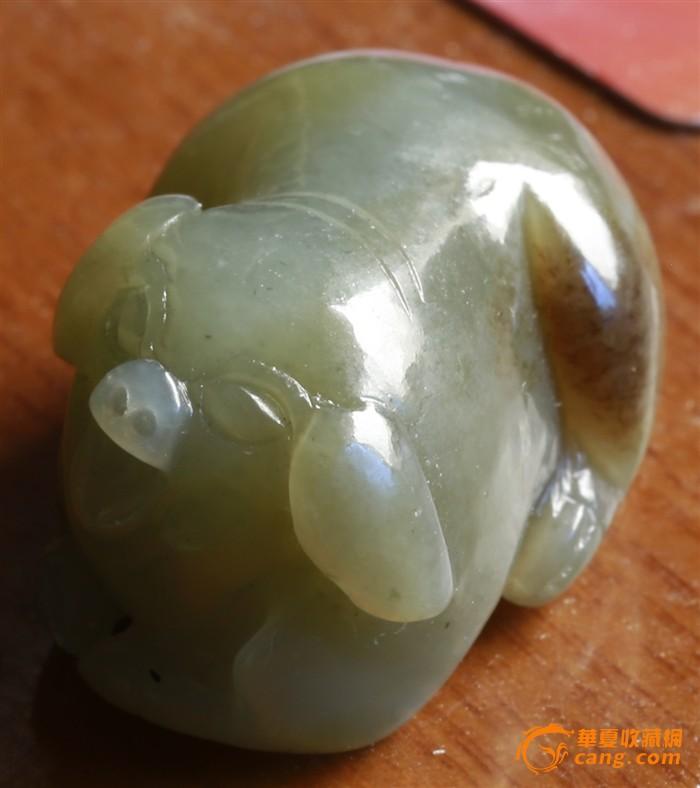 和田玉 非常可爱的玉雕 招财猪 5