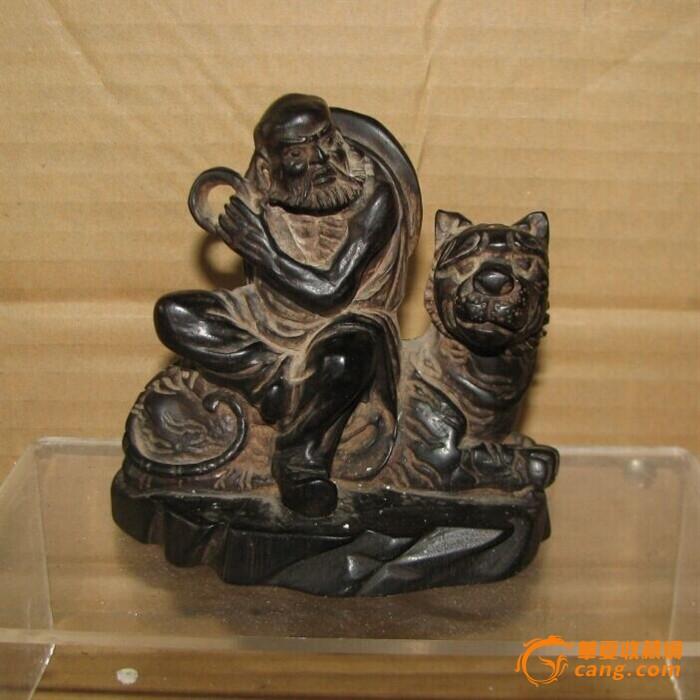 紫檀木雕罗汉摆件图1-在线竞价-图片|图库|价格