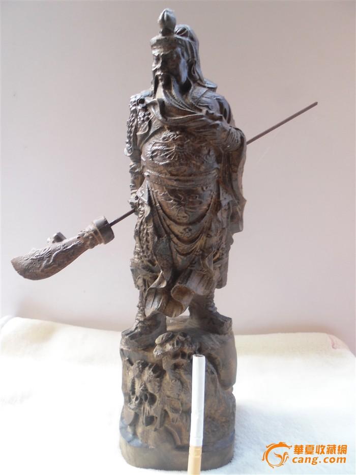 沉香木雕关公佛像