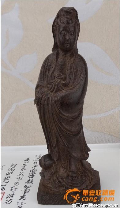 木雕精品观音坐像图片